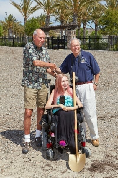 CSC Sensory Garden Ground Breaking Ceremony - Courtney, Don and Bill