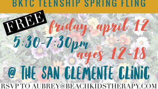 BKTC Teenship Spring Fling Event Invite